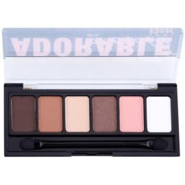 NYX Professional Makeup The Adorable paleta očních stínů s aplikátorem  6 x 1 g