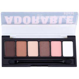 NYX Professional Makeup The Adorable paleta de sombras  com aplicador   6 x 1 g