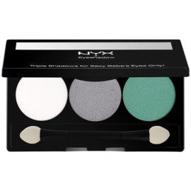 NYX Professional Makeup Triple paleta de sombras  tom 16 Opal/Platinum Silver/Luster 2,1 g