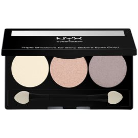 NYX Professional Makeup Triple paleta de sombras  tom 19 Barely There/Champagne/Root Beer 2,1 g
