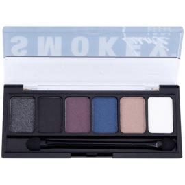 NYX Professional Makeup The Smokey Palette mit Lidschatten mit einem  Applikator  6 x 1 g