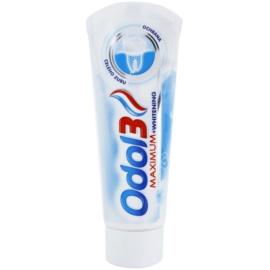 Odol 3  Maximum fogkrém a  fogak teljes védelmére fehérítő hatással  75 ml