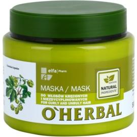 O'Herbal Humulus Lupulus maska pro nepoddajné a krepatějící se vlasy  500 ml