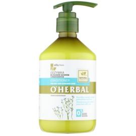 O'Herbal Linum Usitatissimum condicionador para cabelo seco a danificado  500 ml