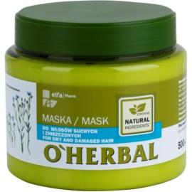 O'Herbal Linum Usitatissimum maska pro suché a poškozené vlasy  500 ml