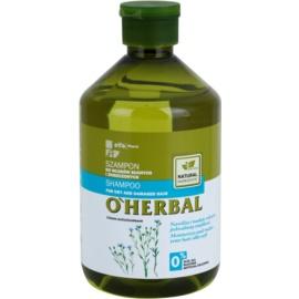 O'Herbal Linum Usitatissimum champô para cabelo seco a danificado  500 ml