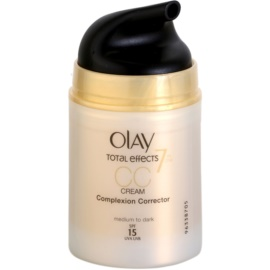 Olay Total Effects CC krém a ráncok ellen árnyalat Medium To Dark SPF 15  50 ml
