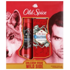 Old Spice Wolfthorn lote de regalo II.  desodorante en spray 125 ml + loción after shave 100 ml