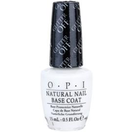 OPI Natural Nail Glitter Off podkladový lak pro snadné odstranění třpytek  15 ml