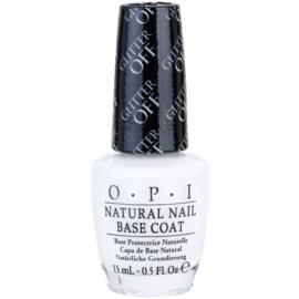 OPI Natural Nail Glitter Off prebase de uñas para eliminar fácilmente esmalte con purpurina   15 ml