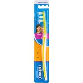 Oral B 1-2-3 Classic Care zobna ščetka medium Yellow