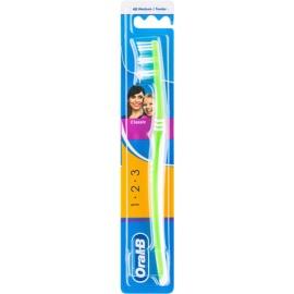 Oral B 1-2-3 Classic Care cepillo de dientes medio Green