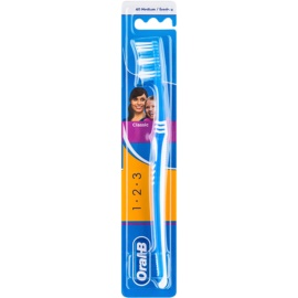 Oral B 1-2-3 Classic Care Zahnbürste Medium Blue