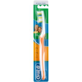 Oral B 1-2-3 Maxi Clean zubní kartáček medium Orange