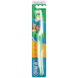 Oral B 1-2-3 Maxi Clean fogkefe közepes Green