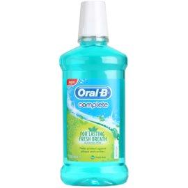 Oral B Complete ústní voda proti zubnímu plaku a pro zdravé dásně příchuť Fresh Mint  500 ml