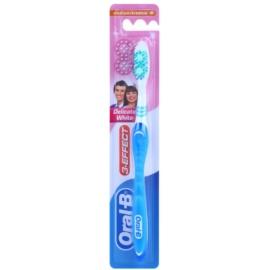 Oral B 3-Effect Delicate White zubná kefka medium Blue