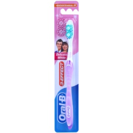 Oral B 3-Effect Delicate White zubná kefka medium Lila