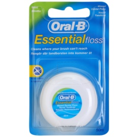 Oral B Essential Floss Waxed Dental Floss with Mint Flavor  50 m