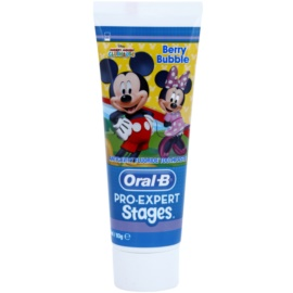 Oral B Pro-Expert Stages Mickey Mouse fogkrém gyermekeknek íz Berry Bubble 75 ml