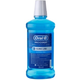 Oral B Pro-Expert Clinic Line enjuague bucal sin alcohol sabor  Cool Mint Flavour 500 ml