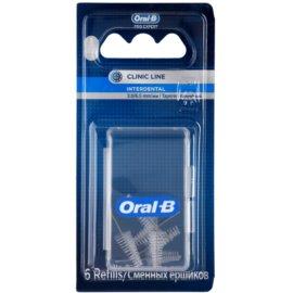 Oral B Pro-Expert Clinic Line tartalék kúpos fogköztisztító kefék a csomagolásban 6 db 3.0 mm Tapered