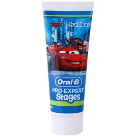 Oral B Pro-Expert Stages Cars Zahnpasta für Kinder Geschmack Fruit Burst 75 ml