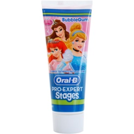 Oral B Pro-Expert Stages Princess pasta de dentes para crianças sabor Bubble Gum 75 ml