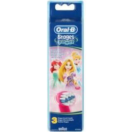 Oral B Stages Power EB10 Princess náhradní hlavice pro zubní kartáček extra soft  3 ks