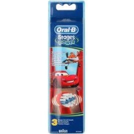 Oral B Stages Power EB10 Cars náhradní hlavice pro zubní kartáček extra soft  3 ks