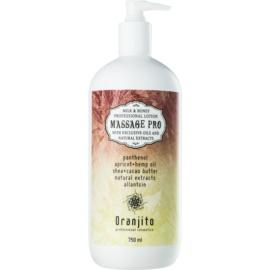 Oranjito Massage Pro Massagemilch mit Milch und Honig  750 ml