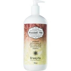 Oranjito Massage Pro masažni losjon z mlekom in medom  750 ml