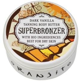 Oranjito Bio Dark Vanilla Tanning Bed Body Butter with Sunscreen  100 g