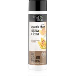 Organic Shop Organic Jojoba & Orchid sampon pentru netezire pentru a evidentia culoarea parului  280 ml