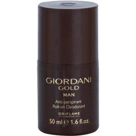 Oriflame Giordani Gold deodorant Roll-on para homens 50 ml