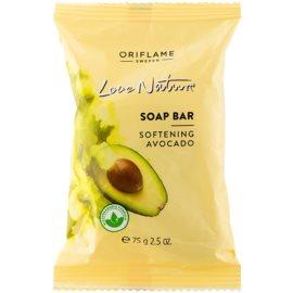 Oriflame Love Nature jabón en barra con aroma de aguacate  75 g