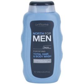 Oriflame North For Men sprchový gel a šampon 2 v 1  250 ml
