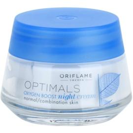 Oriflame Optimals Oxygen Boost Nachtcreme für normale Haut und Mischhaut  50 ml