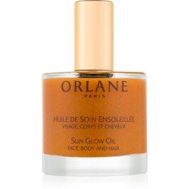 Orlane Sun Glow масло з мерехтливими частинками для обличчя, тіла та волосся  50 мл