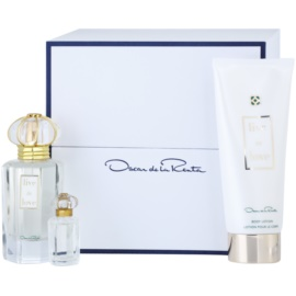 Oscar de la Renta Live in Love dárková sada I. parfémovaná voda 50 ml + 4 ml + tělové mléko 100 ml
