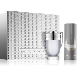 Paco Rabanne Invictus set cadou Apa de Toaleta 100 ml + Deo-Spray 150 ml