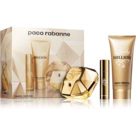 Paco Rabanne Lady Million coffret cadeau  eau de parfum 80 ml + lait corporel 100 ml + eau de parfum 10 ml