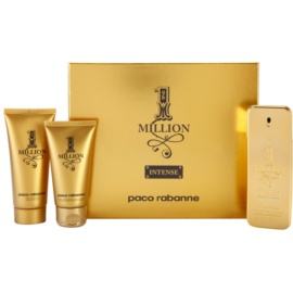 Paco Rabanne 1 Million Intense Geschenkset I. Eau de Toilette 100 ml + Duschgel 100 ml + After Shave Balsam 75 ml
