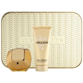 Paco Rabanne Lady Million darilni set I. parfumska voda 80 ml + losjon za telo 100 ml