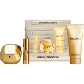 Paco Rabanne Lady Million dárková sada  parfémovaná voda 80 ml + tělové mléko 100 ml + parfémovaná voda 10 ml