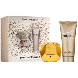 Paco Rabanne Lady Million darilni set VIII.  parfumska voda 80 ml + losjon za telo 100 ml
