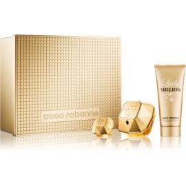 Paco Rabanne Lady Million coffret cadeau VIII.  eau de parfum 80 ml + lait corporel 100 ml + eau de parfum 5 ml