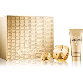 Paco Rabanne Lady Million set cadou VIII.  Eau de Parfum 80 ml + Lotiune de corp 100 ml + Eau de Parfum 5 ml