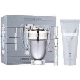 Paco Rabanne Invictus zestaw upominkowy XII.  woda toaletowa 100 ml + woda toaletowa 10 ml + szampon do ciała 100 ml