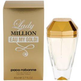 Paco Rabanne Lady Million Eau My Gold toaletna voda za ženske 80 ml
